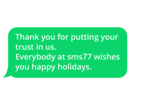 Thank you for your trust and happy holidays