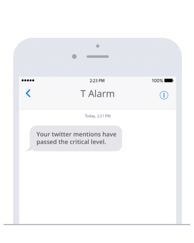 Automated alarms with Huginn and sms77