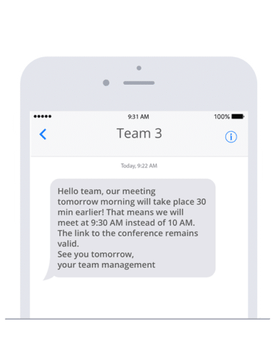Send SMS with Bolt CMS to keep your team up to date