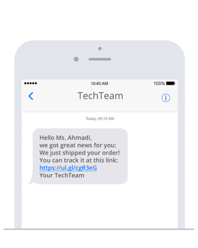Include our SMS gateway in your next JavaScript project