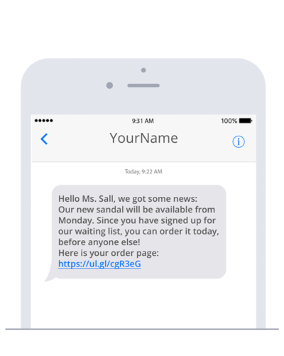 Send SMS in Concrete5 with sms77.io