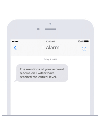 Build alarm systems for social listening with the SMS node in n8n