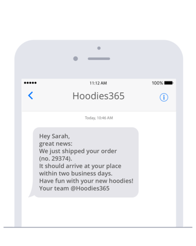 Send SMS in which you confirm the delivery of an order in PrestaShop so your customers stay informed