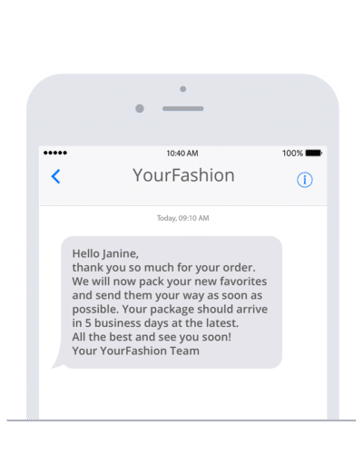 Send SMS with Shopify and the sms77 plugin
