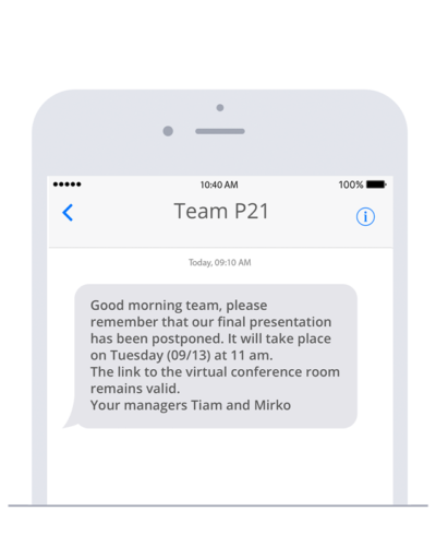Forward important messages via SMS with the Slack SMS app by sms77